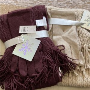 2 Brand new scarf and glove set